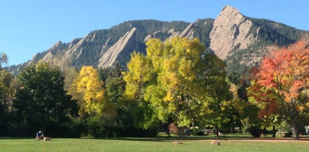 Flatirons in autumn
