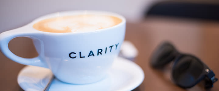 Latte at Clarity Coffee
