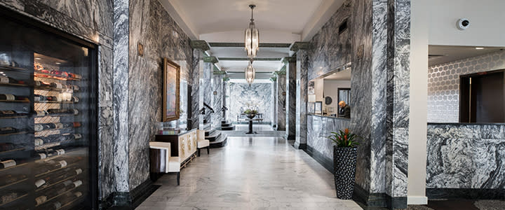 Lobby of the Colcord Hotel
