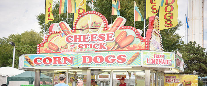 Corn Dog & Cheese Stick Food Stand at Oklahoma State Fair