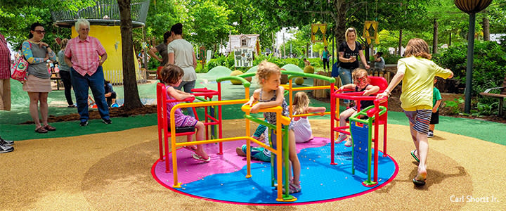 Kids Playing at the Myriad Botanical Gardens