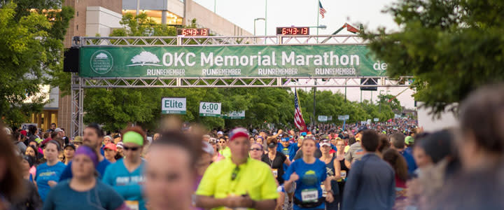 Runners at the OKC Memorial Marathon