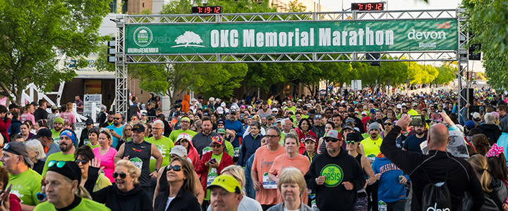 Crowd at OKC Memorial Marathon