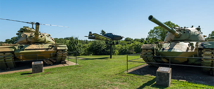 Tanks and planes on display at the 45th Infantry Division Museum