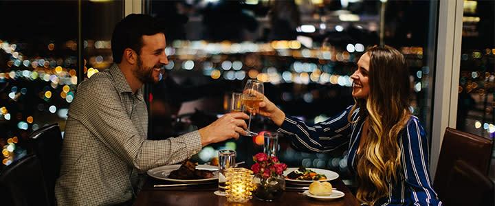 Couple Enjoying a Romantic Dinner at Vast