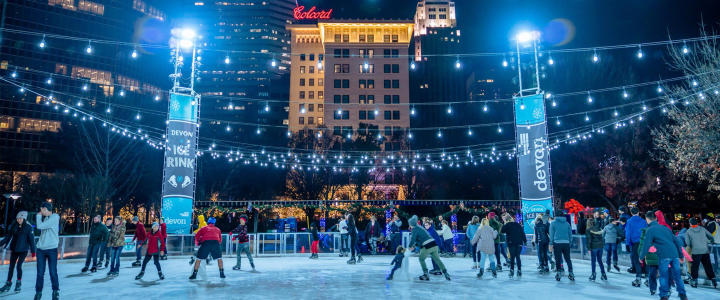 Downtown in December - Ice Skating Rink