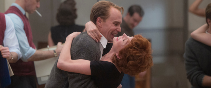 "FOSSE/VERDON ""Who's Got the Pain"" Episode 2. Sam Rockwell and Michelle Williams play Bob Fosse and Gwen Verdon."