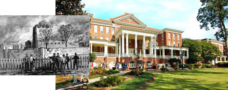 Then and Now GCSU Front Campus