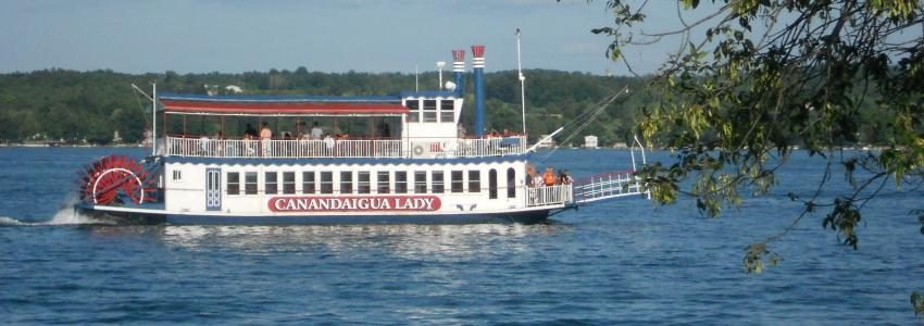The Canandaigua Lady embarks on a voyage on Canandaigua Lake