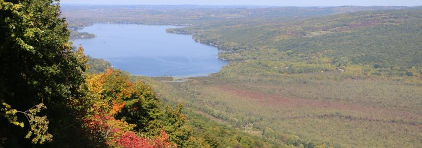 Harriet Hollister state park offers a view of Honeoye lake like no other