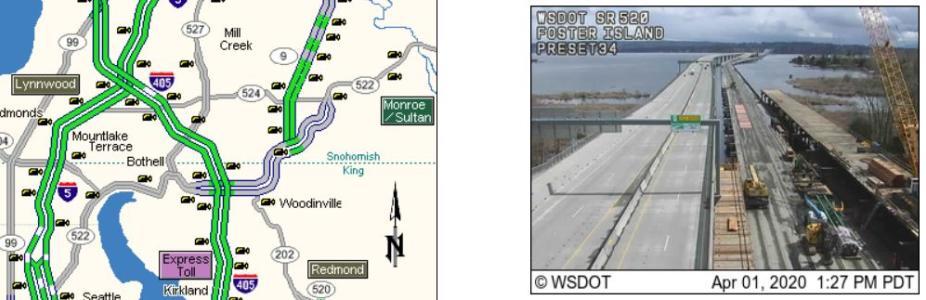 Washington State Dept. of Transportation Live Traffic Cam Map