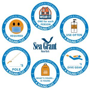 NY Sea Grant Decal Collage