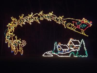 The Winterland Holiday Light Show at Ellis Park in Danville is a popular holiday attraction in Hendricks County.