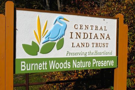 Burnett Woods Nature Preserve in Avon, Indiana