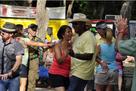 Crowd Dancing at St. Tammany Crab Festival