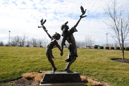 Children of Peace statue at Hendricks Regional Health in Danville