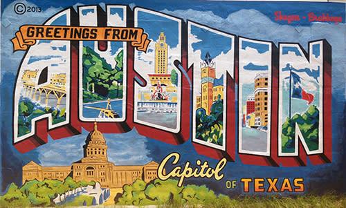 Austin Mural. Photo by Austin Convention & Visitors Bureau.
