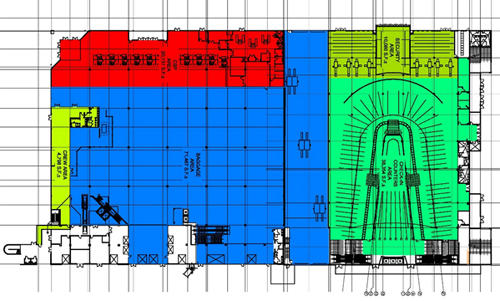Map of Cruise Terminal 18 first floor layout
