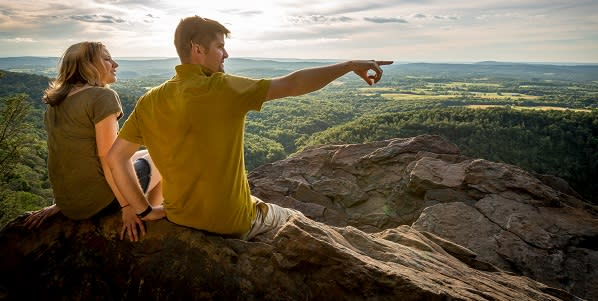 Hawk Rock hike overlook