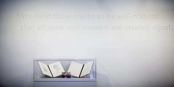 Women's Hall of Fame - Interior shot with Quote - all men and women created equal