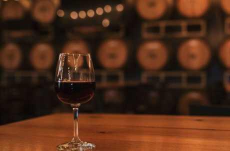 Barrel Room at Treleaven Winery
