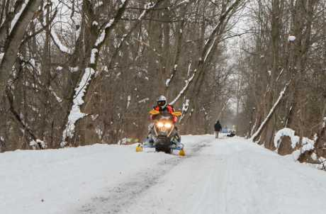 Erie Canal Recreational Trail in the Winter