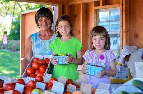 Family at Mary's Barn Market