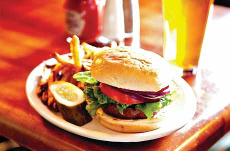 Burgers at the Fargo Bar and Grill
