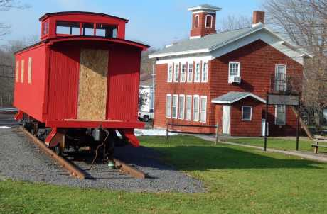 Little Red School House and Caboose car