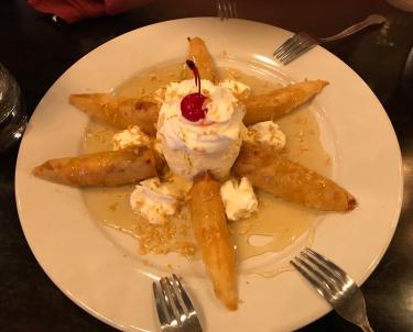 Fried banana dessert, very yummy!