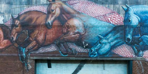 Jumping Horses Mural