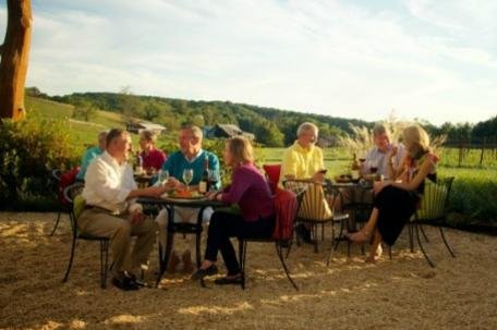 Drinking wine with views in Frederick County