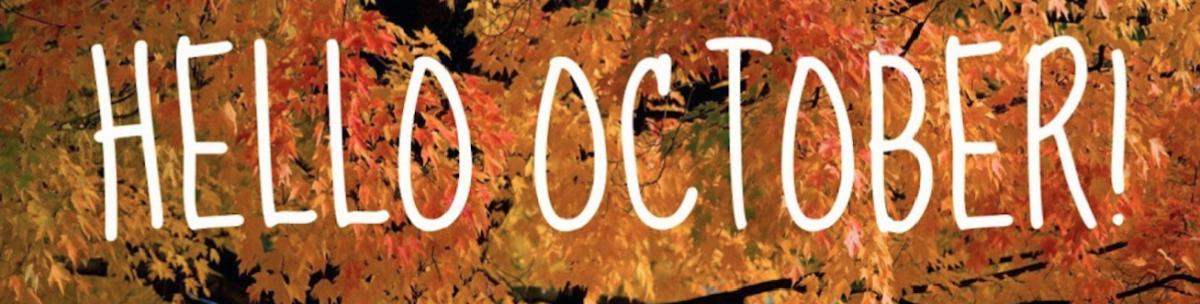 Hello October banner