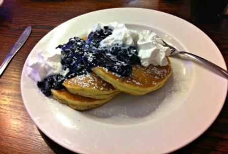 Emmy's blueberry pancakes