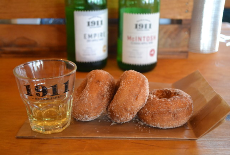 1911 Cider and 3 Cider Donuts