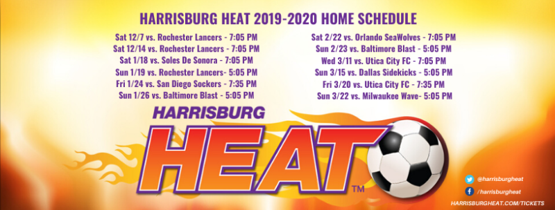 Harrisburg Heat Schedule 2019-2020