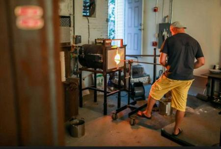 Man Glass Blowing in Providence