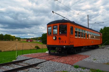 Trolley from the New York Museum of Transportation
