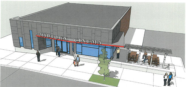 Midtown Cinema New Facade Rendering 2020