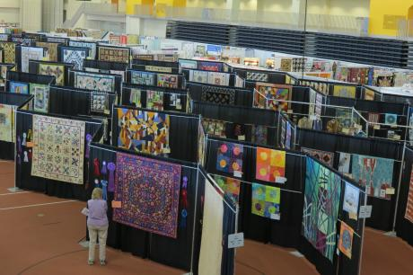Quilts on display at Rochester's Quilt Fest