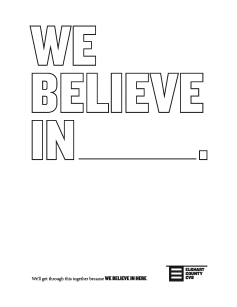 We Believe In Here Coloring Sheet