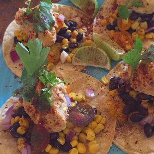 Hippy Chick Hummus Tacos