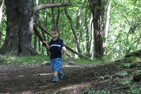 Little boy at Mendon Ponds Park