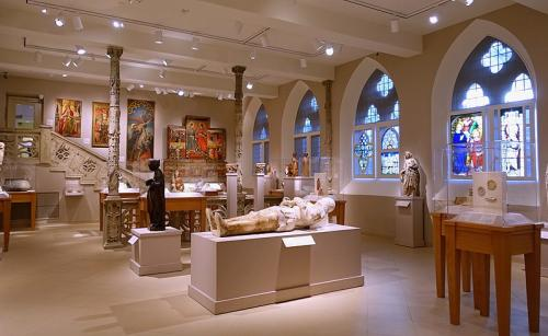A view of mummies in the princeton university art museum