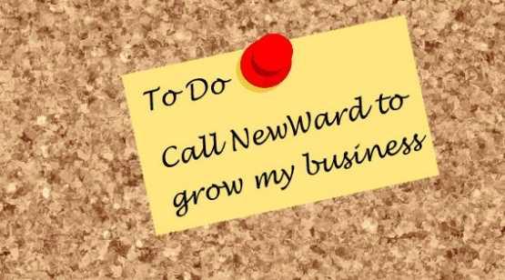 NewWard Development, LLC corkboard with post-it