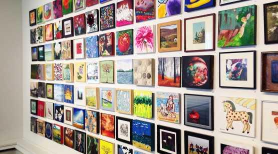 Saratoga Arts Wall of photos