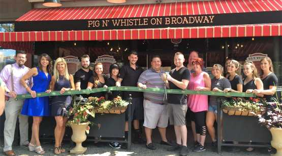 Pig N' Whistle on Broadway ribbon cutting