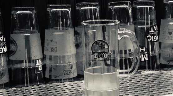 Caroline St Pub glasses and taps