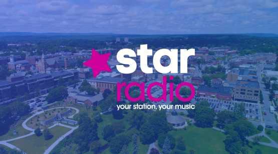 Star Radio logo over Saratoga