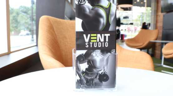 Vent Studio brochure on table